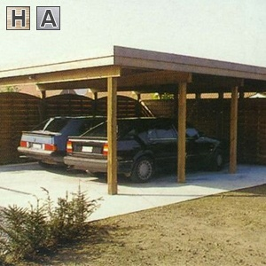 Carport's in hout systeembouw