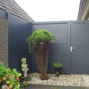Aluminium erfafscheidingen inclusief tuinpoort -