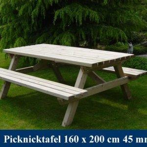 Grote houten picknicktafel Tuinmeubelen FSC Keurmerk KOMO Keurmerk -