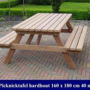 Hardhouten picknicktafel blank Tuinmeubelen 36 -