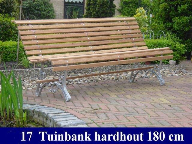 Hardhouten tuinbank blank Tuinmeubelen 17   SBNBouw nl