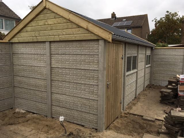 Betonsysteembouw berging in steenmotief betonsysteembouw sbnbouw