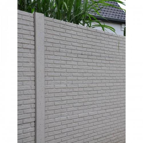 Betonnen schutting in steen motief beton  -