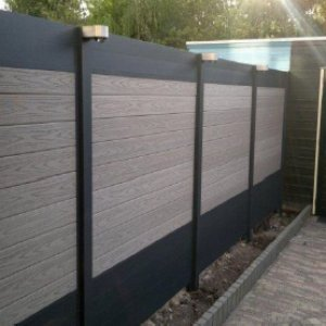 Fiberon grijs bruin professional aluminium composiet schutting -