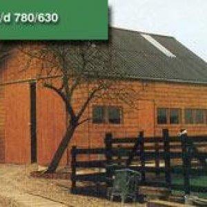 Loods beton hout combinatie bouw -