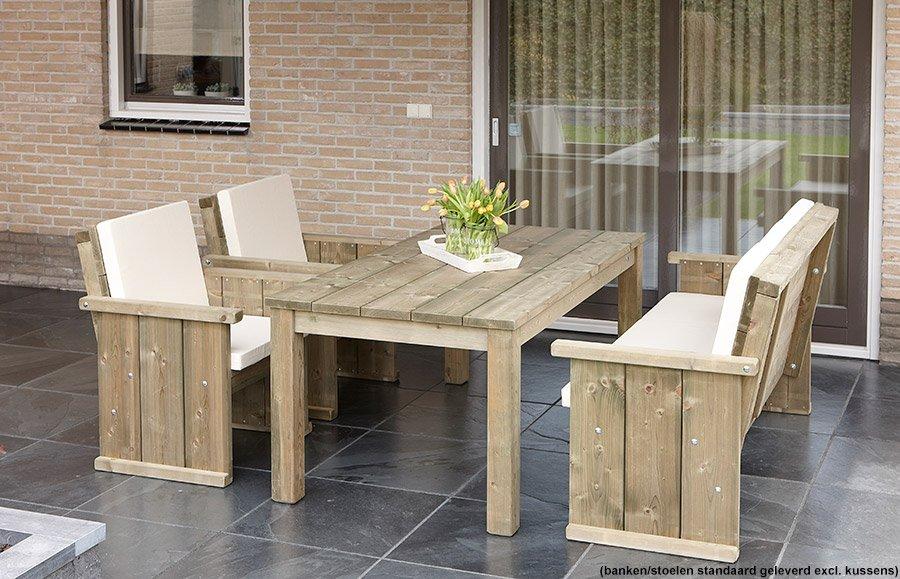 Kruispoot tafel industrie bouwpakket steigerhout xsteigerhout te