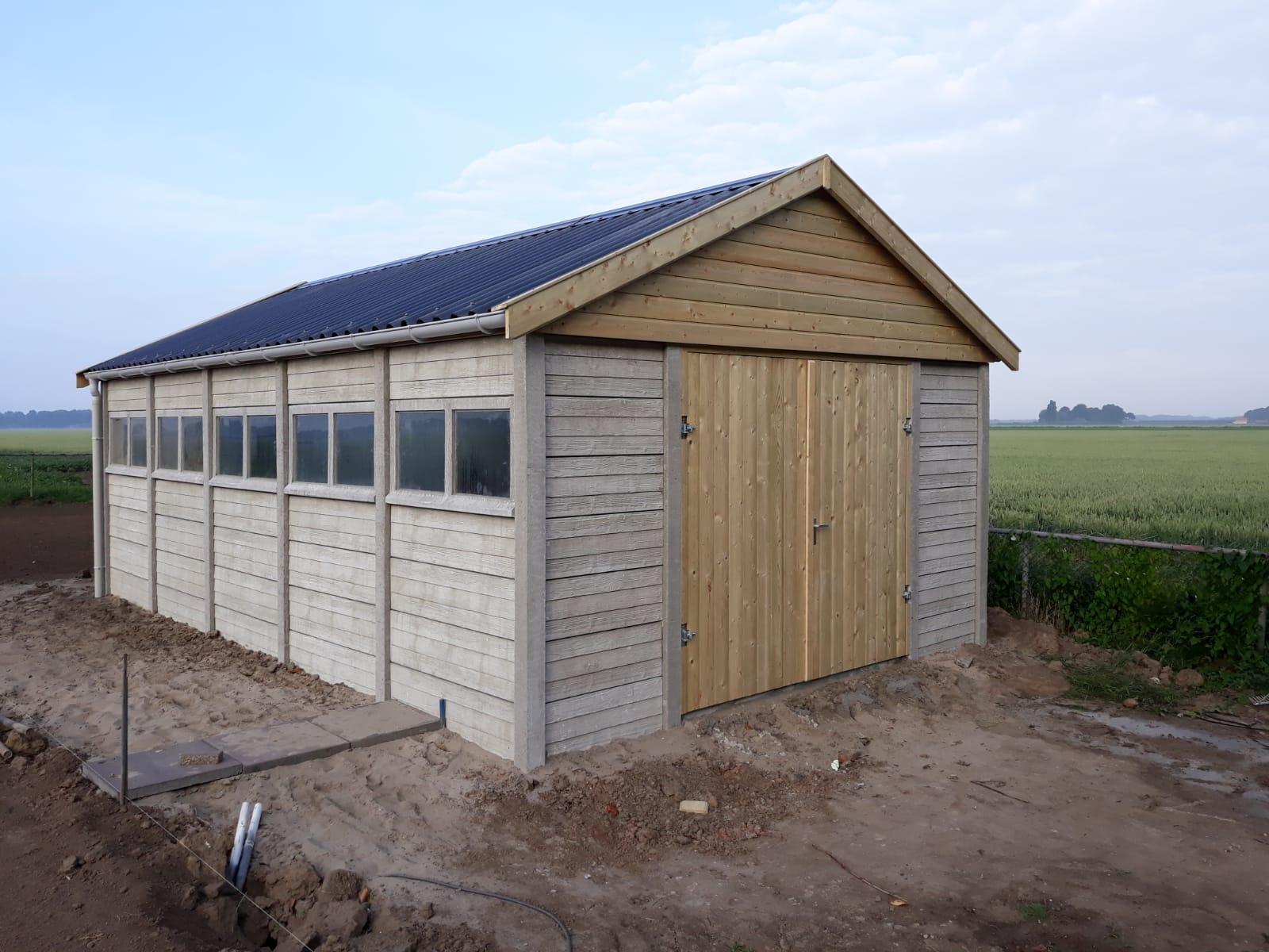 Prefab Garage Steen : Betongarage in grijs steen of hout motief sbnbouw