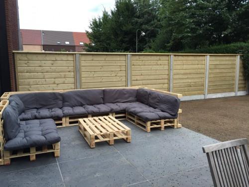 schutting Noord Europees hout FSC beton combinatie horizontaal 28 mm spiegelrabat  -