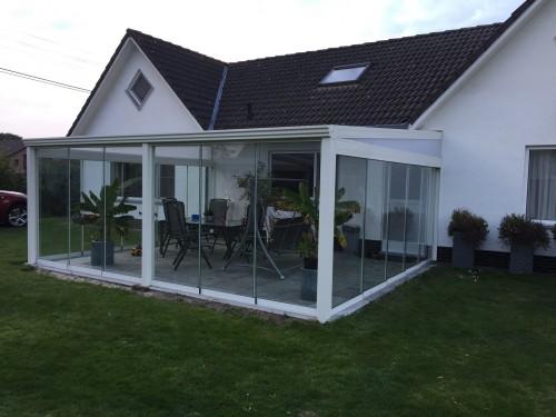 Glazen schuifwanden glazen schuifdeuren voor uw overkapping of tuinkamer in diverse breedtes en hoogtes 2021! -