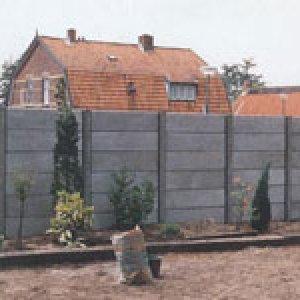 Betonnen schutting Uitvoering Grijs Beton  -