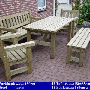 Houten Tuin Parkbank Nuenen Tuinmeubelen FSC Keurmerk Komo Keurmerk -