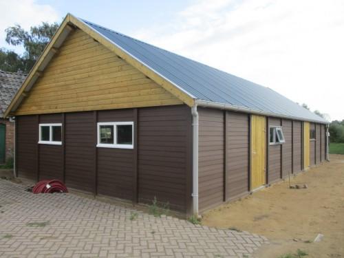 Garage in beton systeembouw steen of hout structuur -