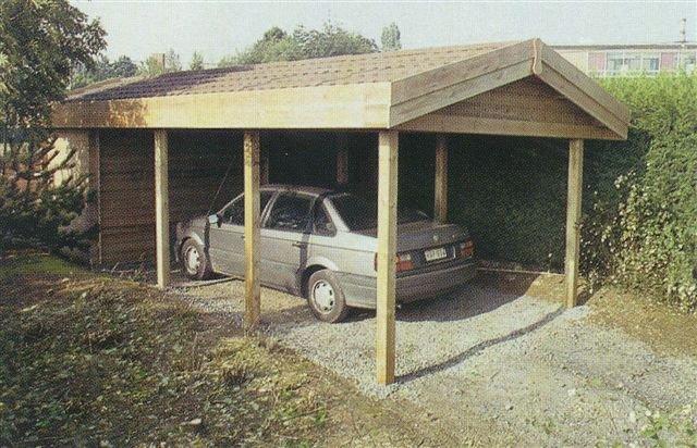 carport hout berging zadeldak